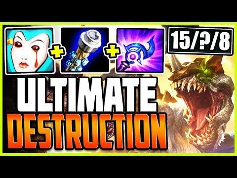 ULTIMATE DESTRUCTION! FEAR THE TOP LANE MONSTER! TOP Cho'Gath vs Garen Season 9 Ranked Gameplay