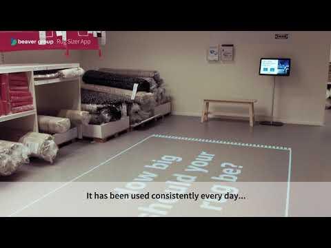 IKEA rug sizer app installed at Milton Keynes store