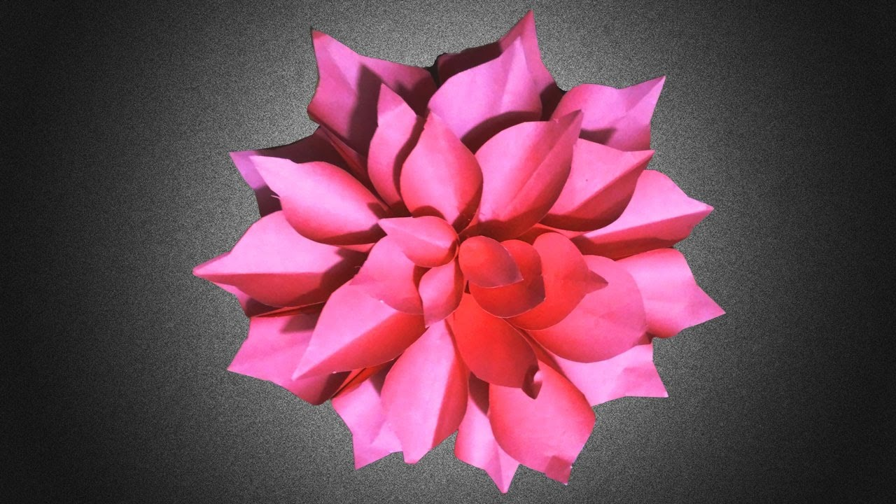 Origami dahlia flower instructions easy origami flowers for origami dahlia flower instructions easy origami flowers for beginners making diy paper crafts dhlflorist Choice Image