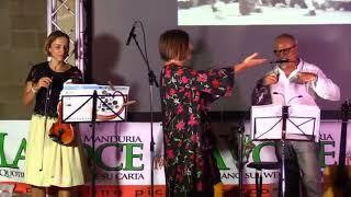 Gianni Vico con Michela Cerfeda La Festa de La Voce di Manduria 2018