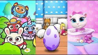 Video My Talking Angela Vs My Boo Vs Moy 5 Virtual Pet Game - Gameplay HD download MP3, 3GP, MP4, WEBM, AVI, FLV Desember 2017