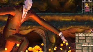 New Super Mario Bros Wii - Slender Man Boss Battle