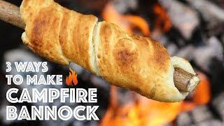 Campfire Bannock 3 Diffęrent Ways