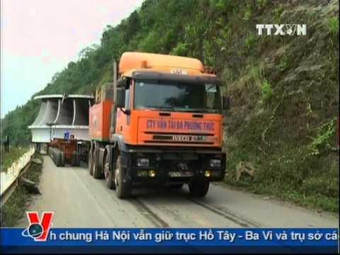 Vận chuyển bánh xe công tác cho thủy điện Sơn La