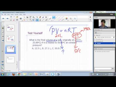 General Chemistry Lecture: Ideal gas behavior Part 2