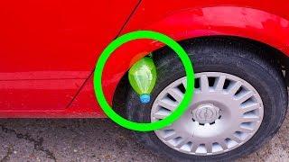 Si tu Vois Une Bouteille en Plastique Sur Ton Pneu, tu es en Danger !