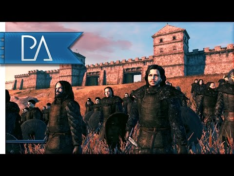 Night's Watch vs Wildlings: Battle for the Wall - Seven Kingdoms Total War Mod Gameplay