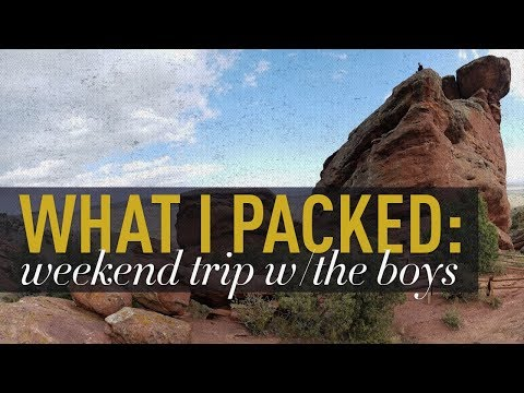 What I Packed: A Weekend Trip With The Boys