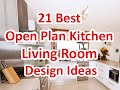 21 Best Open Plan Kitchen Living Room Design Ideas - DecoNatic