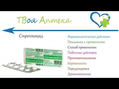 Стрептоцид таблетки - показания (видео инструкция) описание, отзывы