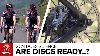 Are Disc Brakes Ready For The Tour De France? Road Disc Brakes Vs. Rim Brakes | GCN Does Science