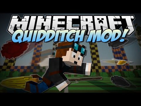 Minecraft | QUIDDITCH MOD! (Harry Potter, Brooms, Bludgers & More!) | Mod Showcase [1.7!]
