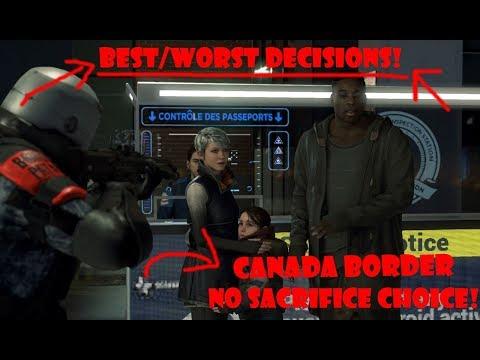 "Detroit: Become Human - Canada Border ""Sacrifice No One Choice"" (Public Opinion)"