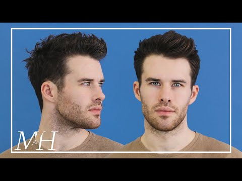Men's Medium Length Haircut and Style | Textured Hairstyle Using Clay thumbnail
