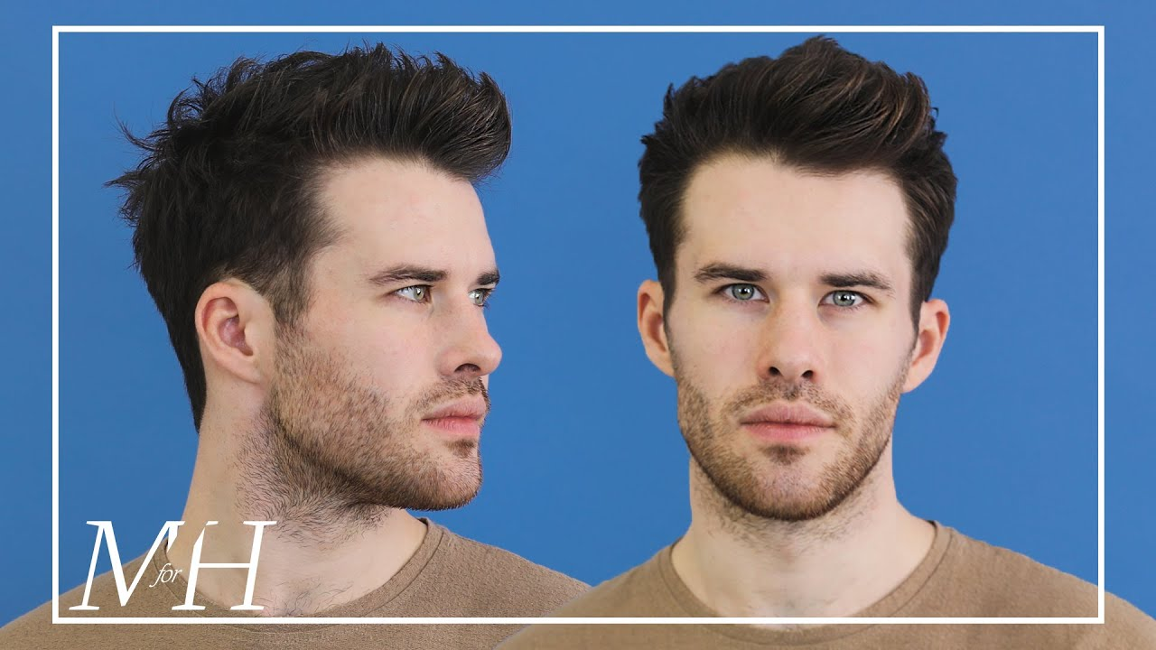 Men S Medium Length Haircut And Style Textured Hairstyle Using Clay Youtube