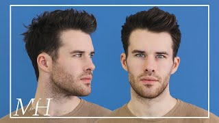 Men's Medium Length Haircut and Style | Textured Hairstyle Using Clay