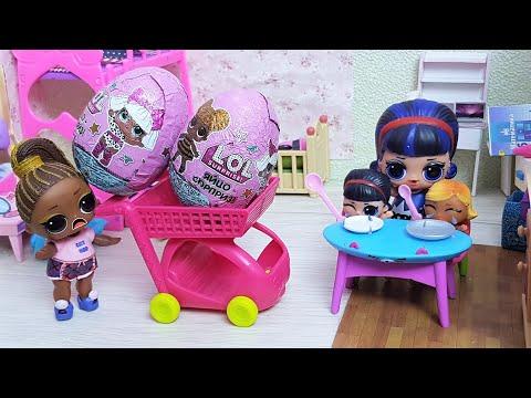 КИНДЕРЫ КУПИЛА, А ЕДУ ЗАБЫЛА! КУКЛЫ ЛОЛ СЮРПРИЗ МУЛЬТИКИ с игрушками куклы для детей