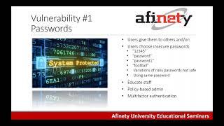 Afinety University: Network Security Vulnerabilities