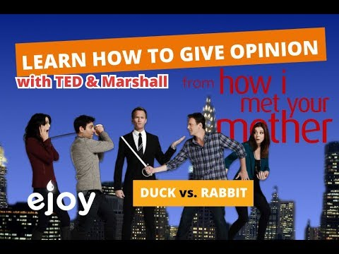 "Learn English with  ""How I Met Your Mother (HIMYM) - Rabbit or Duck""  