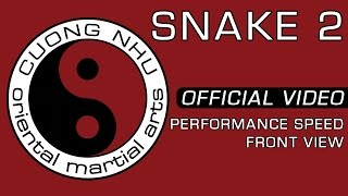 Cuong Nhu Snake 2 - Official Kata - Performance Speed - Front View