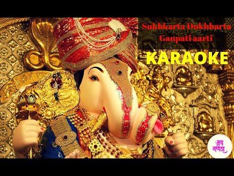 sukhkarta-dukhhkarta-karaoke-|-ganpati-aarti-|-sukh-karta-dukh-harta-full-aarti-with-lyrics