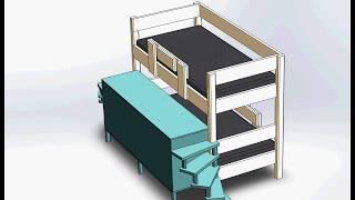 детская двухъярусная кровать своими руками чертежи