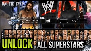 WWE SmackDown VS RAW 2011 - How to Unlock all Characters / WWE Superstars