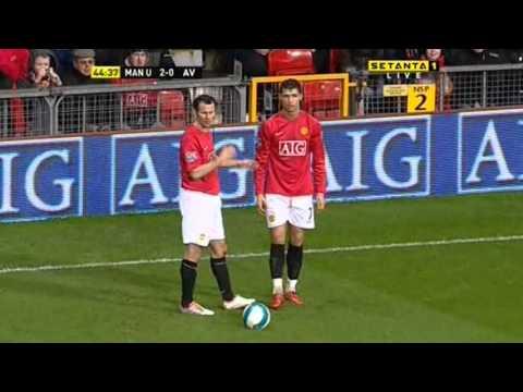 Cristiano Ronaldo Vs Aston Villa Home (English Commentary) - 07-08 By CrixRonnie