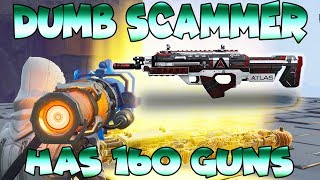 Dumb Scammer Has *160* GUNS!! EPIC RAGE (Scammer Gets Scammed) Fortnite Save The World