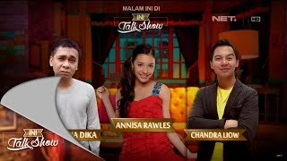 Ini Talk Show - 19 November Part 1/4 - Raditya Dika, Annisa Rawles, Chandra Liow