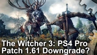 [4K] The Witcher 3: PS4 Pro Patch 1.61: Upgrades vs Downgrades Analysis