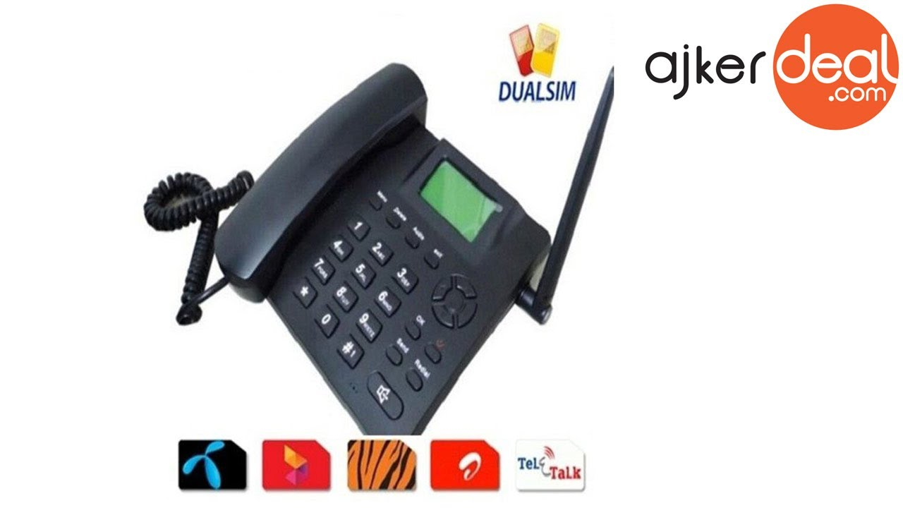 PANASONIC Dual SIM GSM Telephone Set   SIM Supported Desk Phone