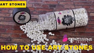 How to use immix deco stones for mixed media art