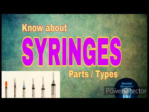 Syringes | Types | Dental Syringes | Uses | Parts | Dental Maestro | Dr.Jyoti Agarwal