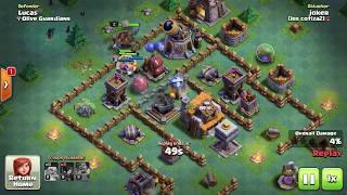 10/2017 BH5 Battle Log Proof Impossible 2 Star Builder Hall 5 Base Clash Of Clans