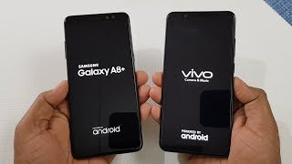Samsung Galaxy A8+ (2018) vs ViVo V7+ Speed Test | Which is Faster !