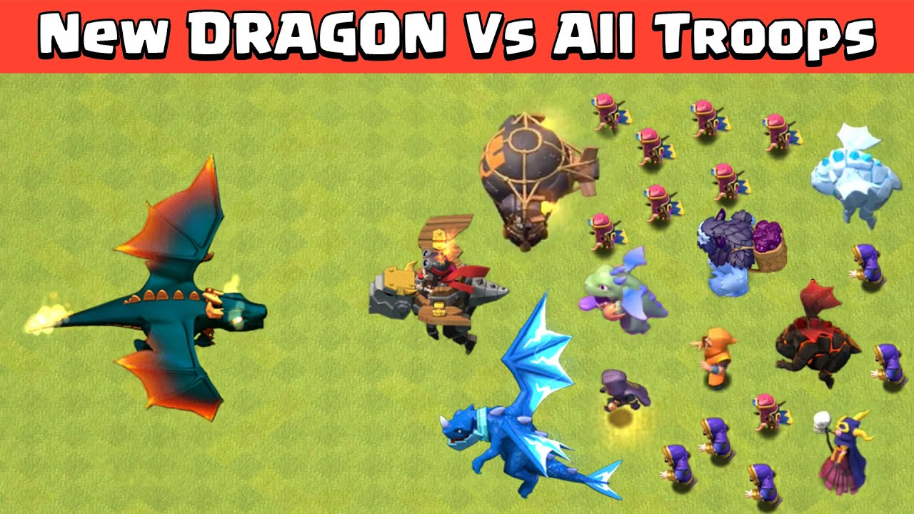 **NEW** Level 9 DRAGON VS ALL TROOPS | CLASH OF CLANS | COC SUMMER UPDATE 2021