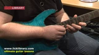 Free Guitar Lessons - Sweeping & Tapping Lick Lesson - Greg Howe, Jason Becker, Michael Romeo Style