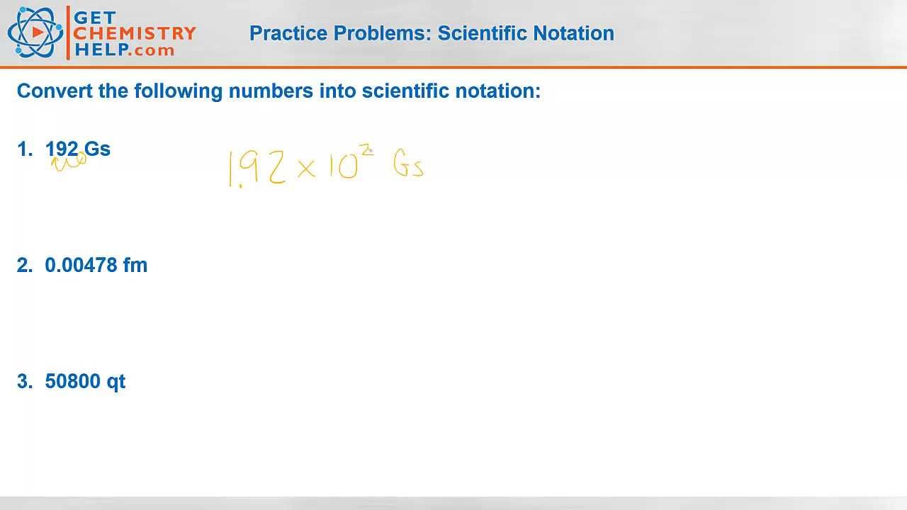 chemistry practice problems scientific notation chemistry practice problems scientific notation