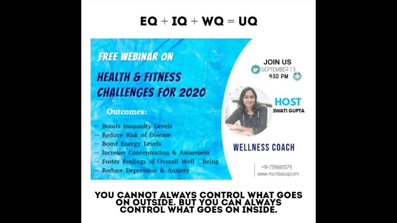 Health and Fitness Webinar - Wellness Coach (Swati Gupta)
