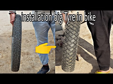 How to install big Tyre in splendor + hf deluxe & all bikes must watch