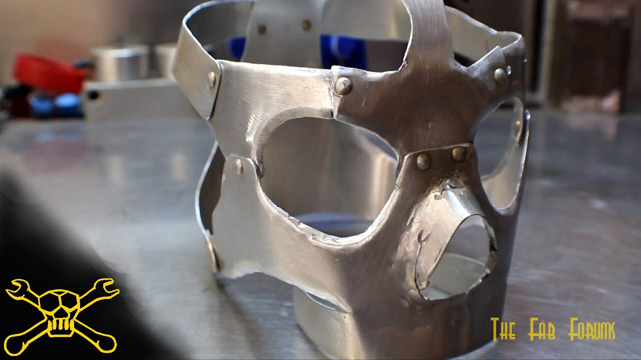 Sheet Metal Skull Mask Fabrication Youtube