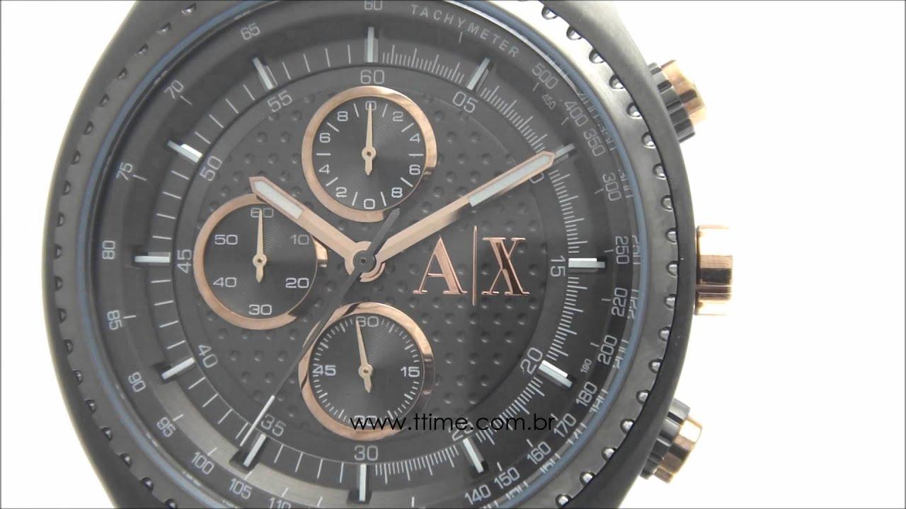 60b3f80a32ed8 Relógio Armani Exchange AX1603 1CN - YouTube