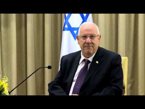President Rivlin welcomes Apple CEO Tim Cook at the President's Residence