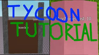 Roblox Tutorial | How To Make A Tycoon Game | Short