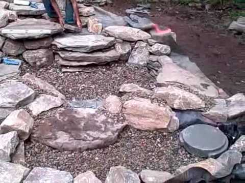 How To Construct A Pondless Waterfall And Stream In Ringoes, NJ   YouTube