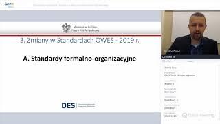 Webinarium: Standardy działania Ośrodków Wsparcia Ekonomii Społecznej (13.11.2019)