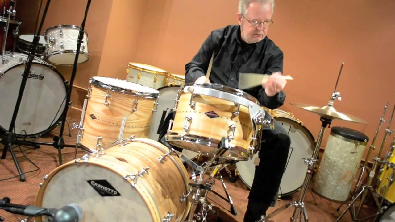 steve maxwell vintage drums craviotto ash 18 12 14 drum set 1 14 13 youtube. Black Bedroom Furniture Sets. Home Design Ideas
