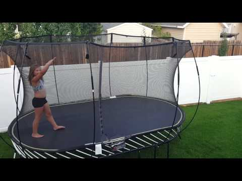 Trampoline Tricks and Acrobatics from a Cheerleader