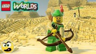 LEGO Worlds - Episódio #34 - O Arqueiro Verde (Parte 1) [ PS4 ] Caraca Games
